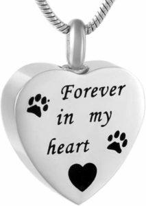 Urnenschmuck Katzen Urne Kette Herz forever in my heart