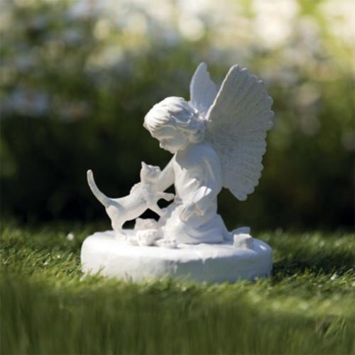 Katzen Gedenkstein Katze mit Engel