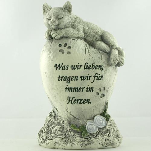 Katzen Gedenkstein was wir lieben